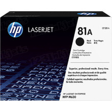 HP 81A (CF281A) Black Original Toner Cartridge in Retail Packaging