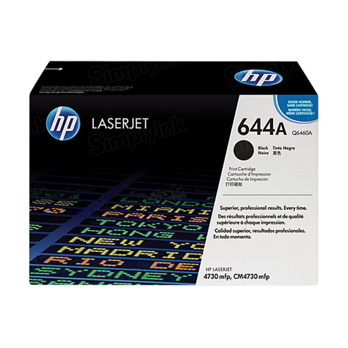 Original HP Q6460A (644A) Black Toner