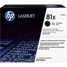 HP 81X (CF281X) Black High Yield Original Toner Cartridge in Retail Packaging
