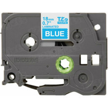 Brother TZe545 White on Blue OEM 3/4 Label Tape