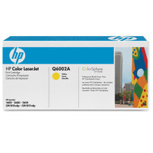 HP 124A (Q6002A) Yellow Original Toner Cartridge in Retail Packaging