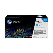 HP 124A (Q6001A) Cyan Original Toner Cartridge in Retail Packaging