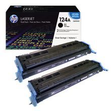 HP 124A (Q6000AD) Black High Yield Original Toner Cartridge in Retail Packaging