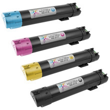 Compatible Set of 4 Replacement Toners for use in the Dell C5765dn, (Black, Cyan, Magenta, Yellow)
