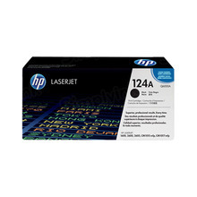 HP 124A (Q6000A) Black Original Toner Cartridge in Retail Packaging