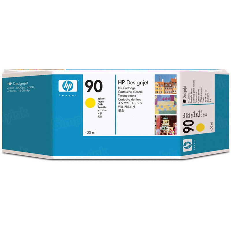 HP 90 Yellow Original Ink Cartridge C5065A