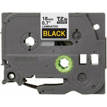 Brother TZe344 Gold on Black OEM 3/4 Label Tape