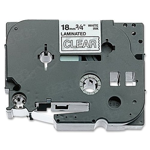 Brother TZe-145 3/4 White on Clear OEM Tape