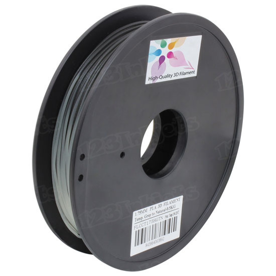 Color Changing 0.5kg 1.75mm Gray to Natural Printer Filament