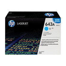 HP 643A (Q5951A) Cyan Original Toner Cartridge in Retail Packaging