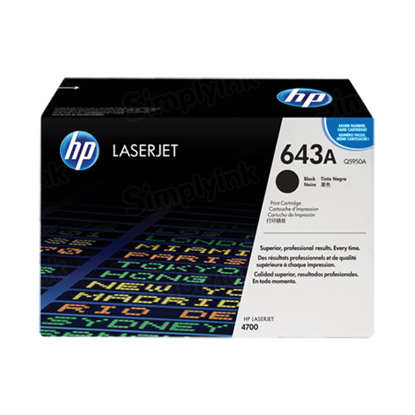 Original HP Q5950A (643A) Black Toner