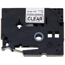 Brother TZAF131 Black on Clear OEM 1/2 Label Tape