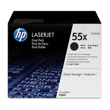 HP 55X (CE255XD) Black High Yield Original Toner Cartridge in Retail Packaging