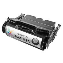 Lexmark Remanufactured High Yield Black Laser Toner Cartridge, X644H11A (X642/X644/X646 Series) (21K Page Yield)