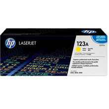 HP 123A (Q3972A) Yellow Original Toner Cartridge in Retail Packaging