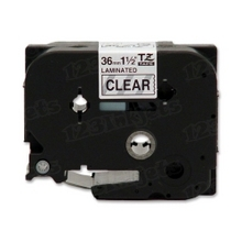 Brother TZe161 Black on Clear OEM 1 1/2 Label Tape
