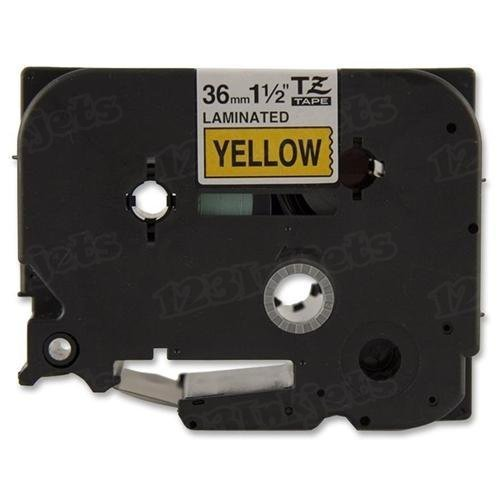 Brother Tze-661 1 1/2 Black on Yellow OEM Tape