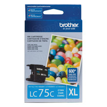 Brother LC75C Cyan OEM Ink Cartridge, High-Yield