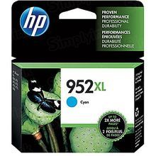 Original HP 952XL High Yield Cyan Ink Cartridge in Retail Packaging (L0S61AN)