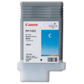 Canon PFI-105C Cyan OEM Ink Cartridge