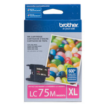 Brother LC75M Magenta OEM Ink Cartridge, High-Yield