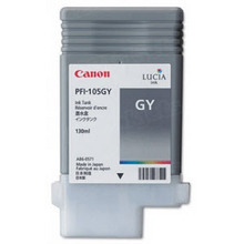 Canon PFI-105GY Gray OEM Ink Cartridge, 3009B001AA