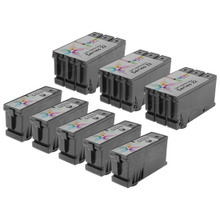8-Pack of Compatible Ink Cartridges for Dell Series 22 High Yield Black & Color Ink for the P513 & V313