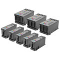 8-Pack of Compatible Replacement for Dell Series 22 Black & Color Ink