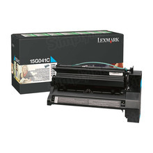 Lexmark OEM Cyan Return Program Laser Toner Cartridge, 15G041C (6K Page Yield)