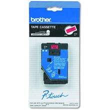 Brother TC5001 Black on Red OEM 1/2 Label Tape