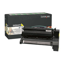 Lexmark OEM Yellow Return Program Laser Toner Cartridge, 15G041Y (6K Page Yield)