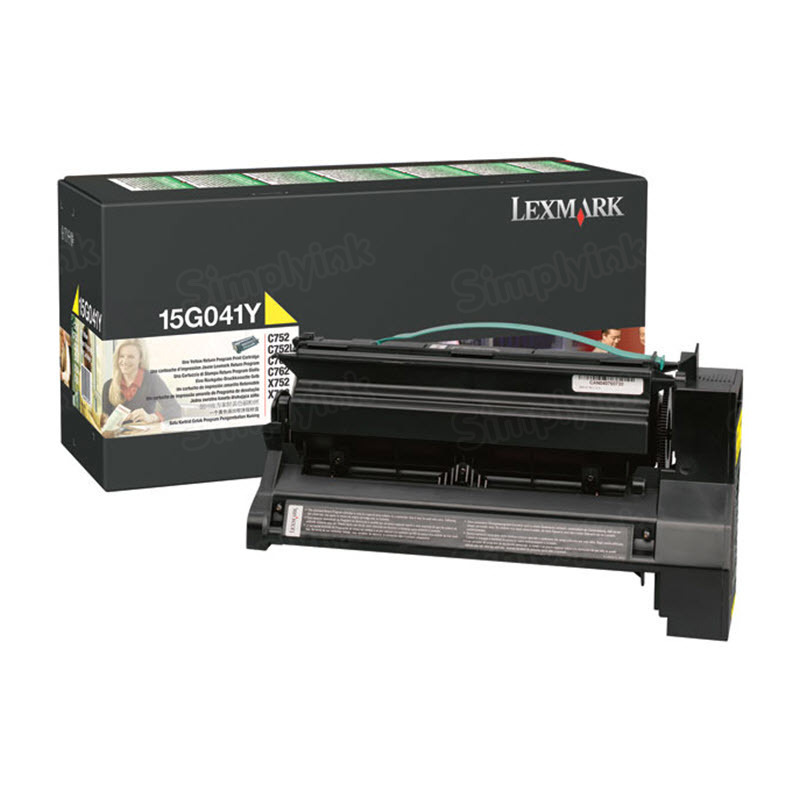 Lexmark Original Yellow Toner, 15G041Y