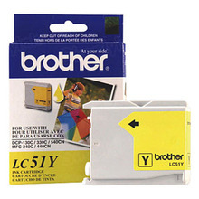 Brother LC51Y Yellow OEM Ink Cartridge