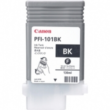 Canon PFI-101BK Black OEM Ink Cartridge, 0883B001AA