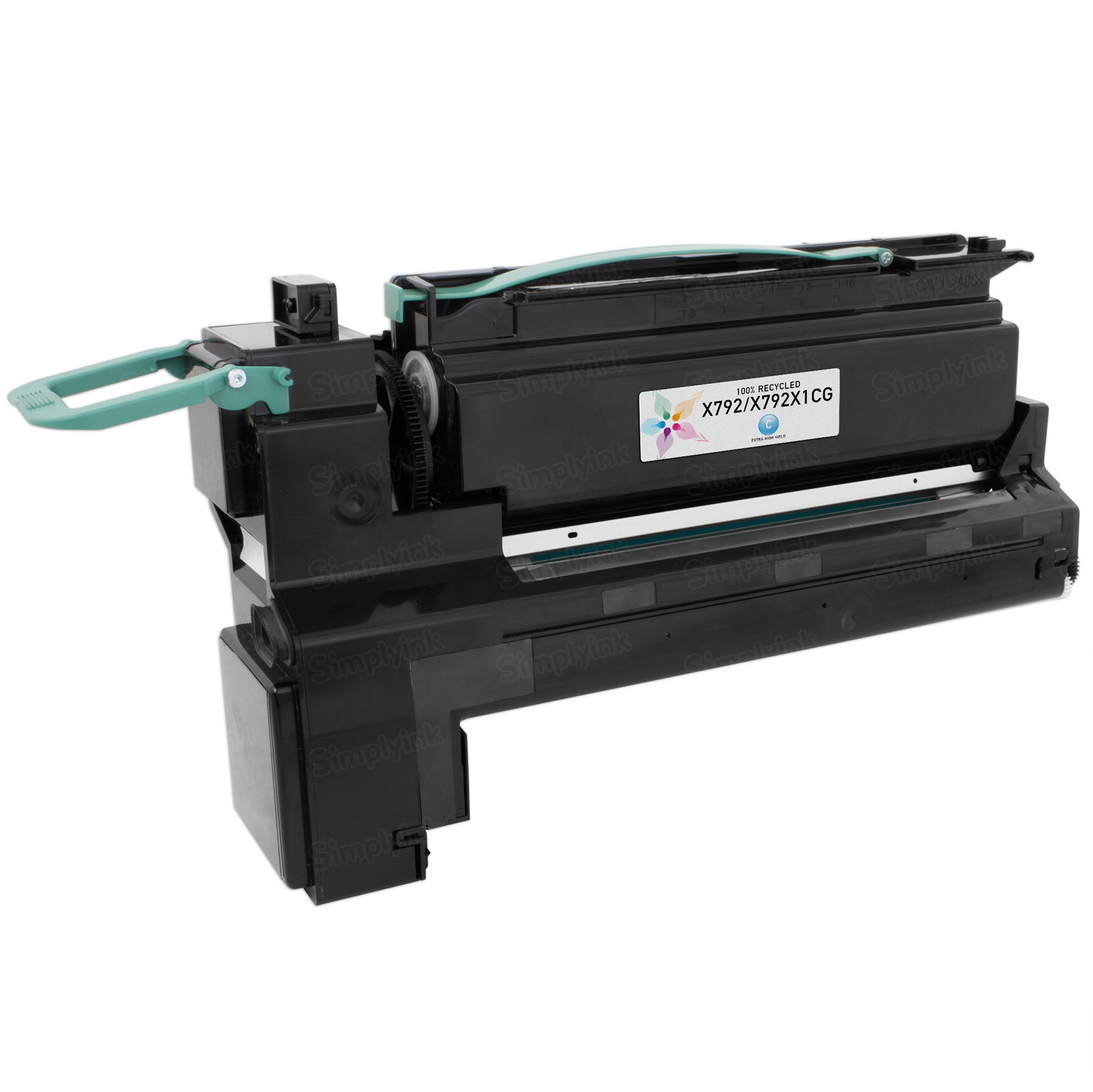 Lexmark Remanufactured Extra HY Cyan Toner, X792X1CG (X792)