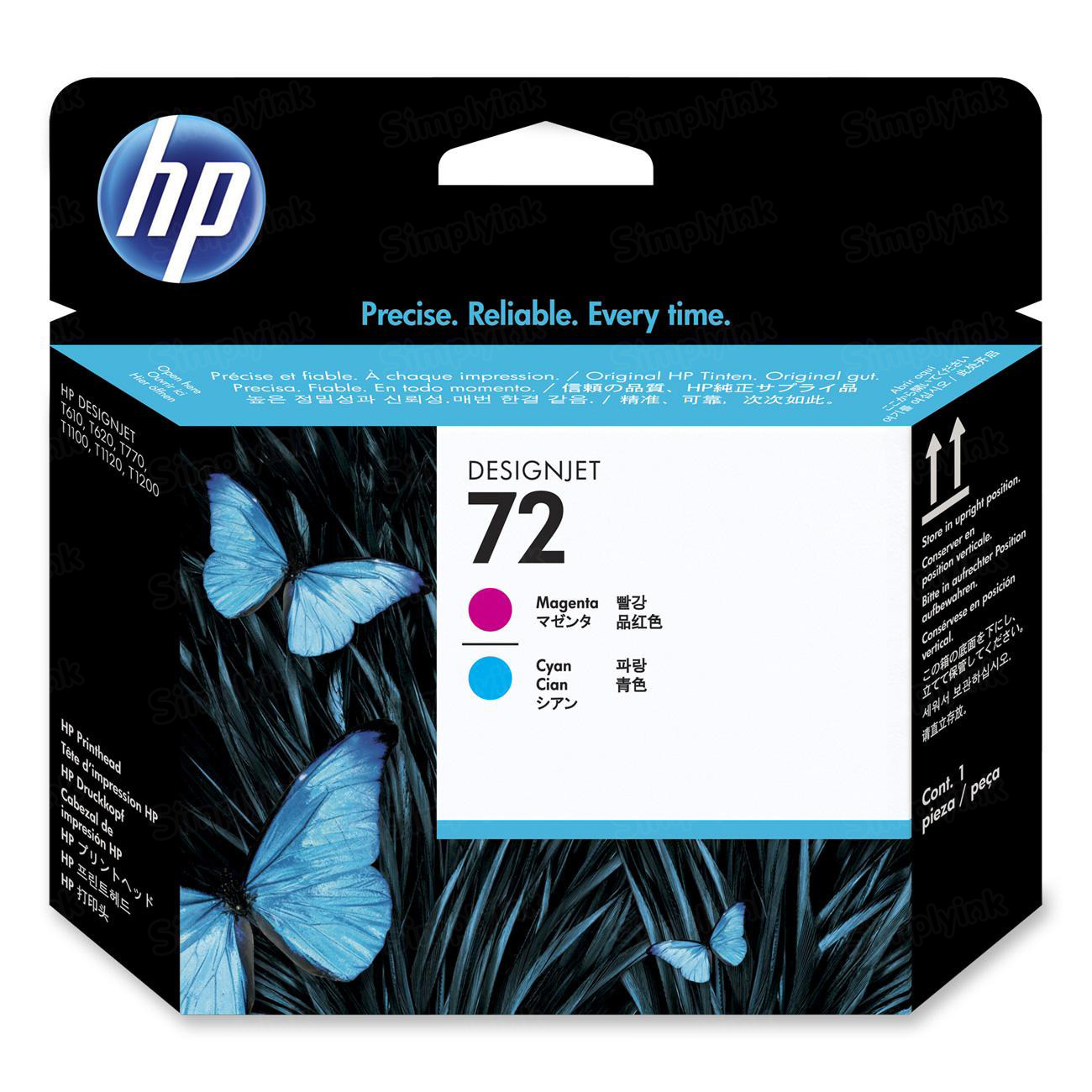 HP 72 Cyan and Magenta Original Printhead C9383A