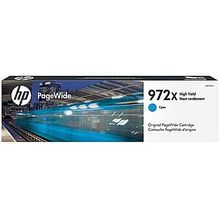 Original HP 972X High Yield Cyan PageWide Cartridge in Retail Packaging (L0R98AN)