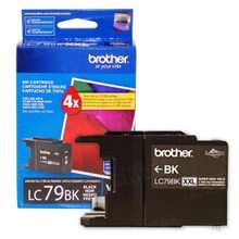 Brother LC79BK Black OEM Ink Cartridge, Extra High-Yield