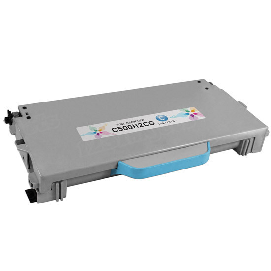 Remanufactured C500H2CG Cyan Toner Cartridge for Lexmark