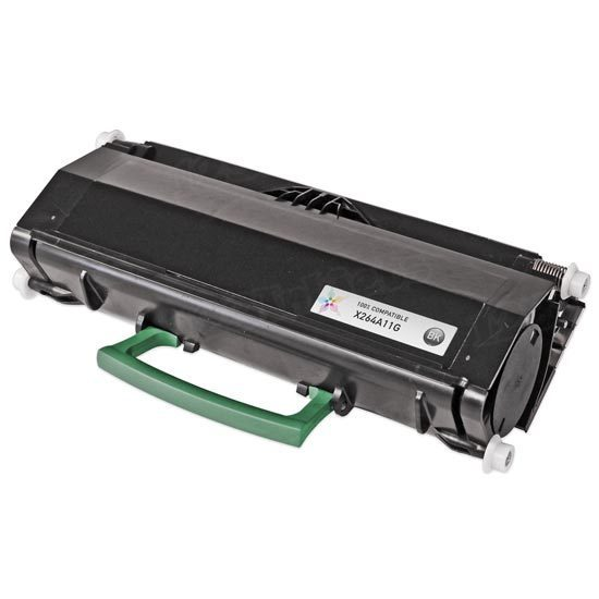 Compatible X264A11G Black Toner for Lexmark