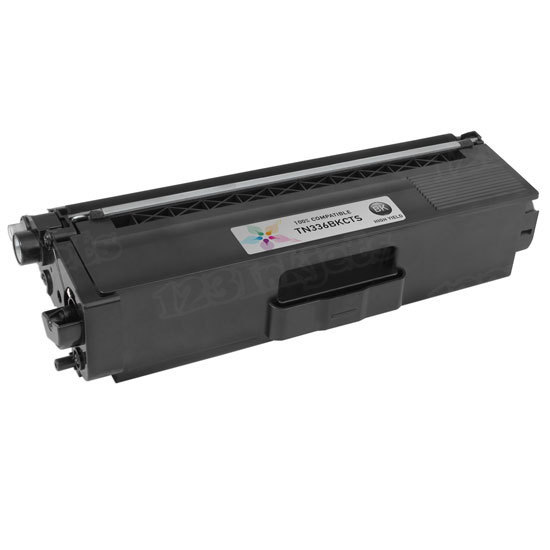 Compatible TN336BK High Yield Black Toner Cartridge for Brother