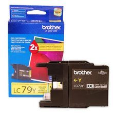 Brother LC79Y Yellow OEM Ink Cartridge, High-Yield