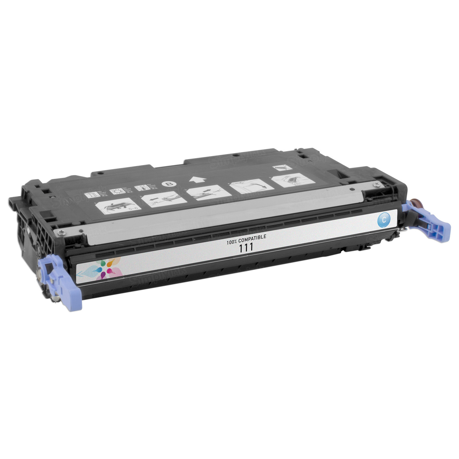 Canon 111) Cyan Toner Cartridge, Remanufactured