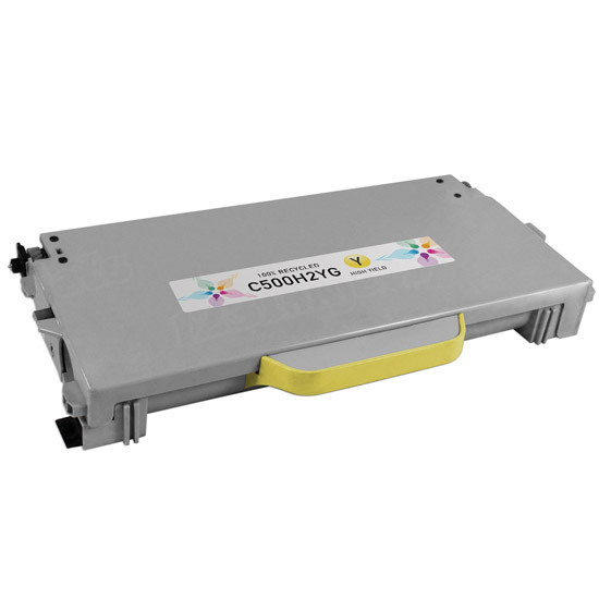 Remanufactured C500H2YG Yellow Toner Cartridge for Lexmark