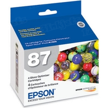Epson T087020 (T0870) Gloss Optimizer OEM Ink Cartridge for Stylus Photo R1900