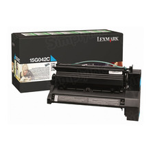 Lexmark OEM High Yield Cyan Return Program Laser Toner Cartridge, 15G042C (15K Page Yield)