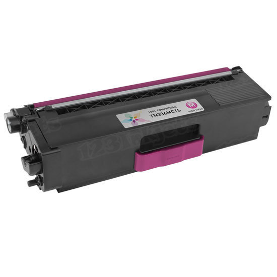Compatible TN336M High Yield Magenta Toner Cartridge for Brother