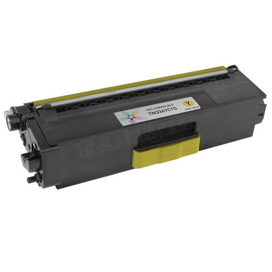 Compatible TN336Y High Yield Yellow Toner Cartridge for Brother