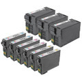 Set of 9 Epson 252XL Remanufactured Ink