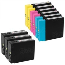 Canon PGI-2200XL Bulk Set of 9: 3 Black & 2 each of Cyan, Magenta, Yellow Ink Cartridges, Compatible